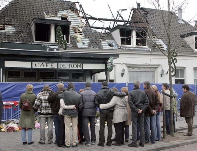 Droefenis daags na de brand bij café De Kom in Boxtel