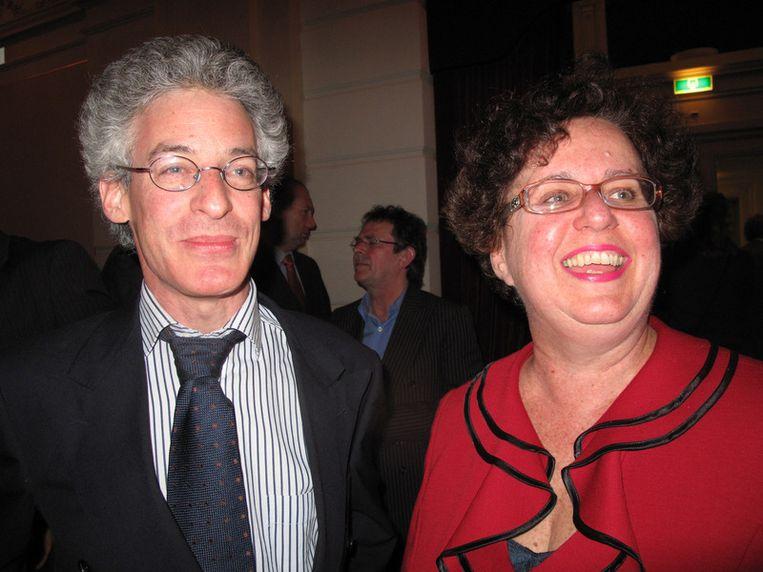 Stille krachten Arnan Oberski, lid van het kabinet van de burgemeester, en Maria Quartas, chef de kabinet. Zo stil, dat je ze bijna niet hoorde. Beeld null