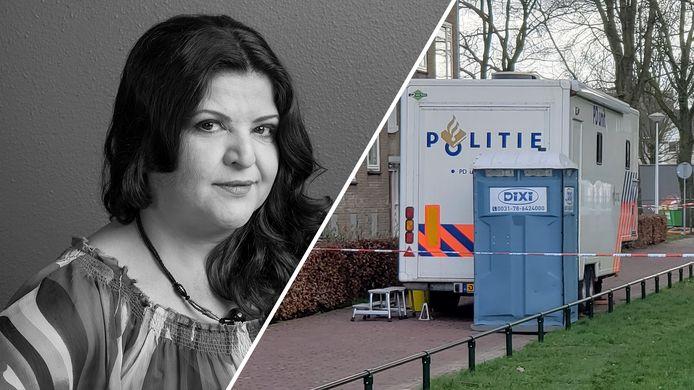 Raifa Al-Riz en het politieonderzoek bij haar woning in Zwolle.