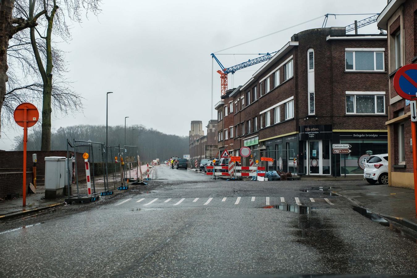 Het kruispunt van de Velodroomstraat en de Beukenlaan in Boom.
