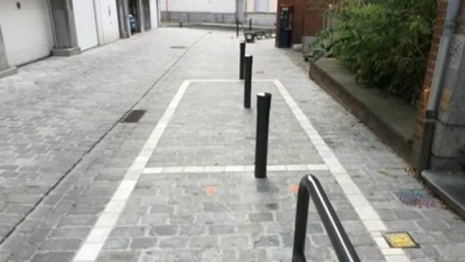Paaltjes maken nieuwe parkeerplaatsen in Bergen onbruikbaar