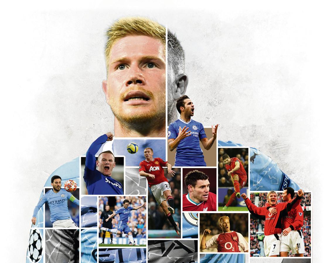 Kevin De Bruyne komt met zijn 77 assists in de top 10 van beste passeur ooit in de Premier League. Ook in het lijstje: Ryan Giggs, Cesc Fabregas, Wayne Rooney, Frank Lampard, Dennis Bergkamp, David Silva, Steven Gerrard, James Milner en David Beckham. En De Bruyne heeft van elk wat.