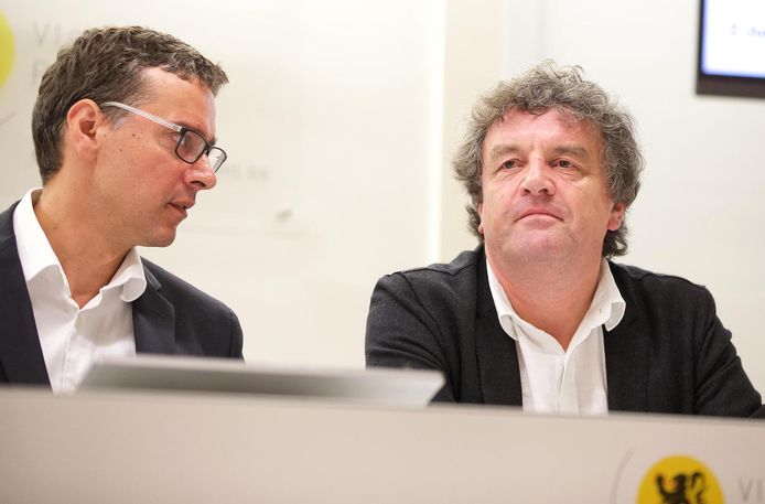Overkappingsintendant Alexander D'Hooghe (links) en Peter Vermeulen van Ringland.