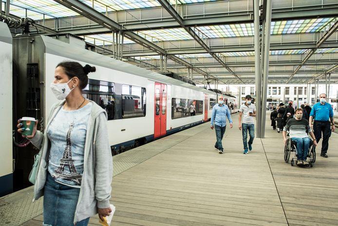 La gare d'Ostende.