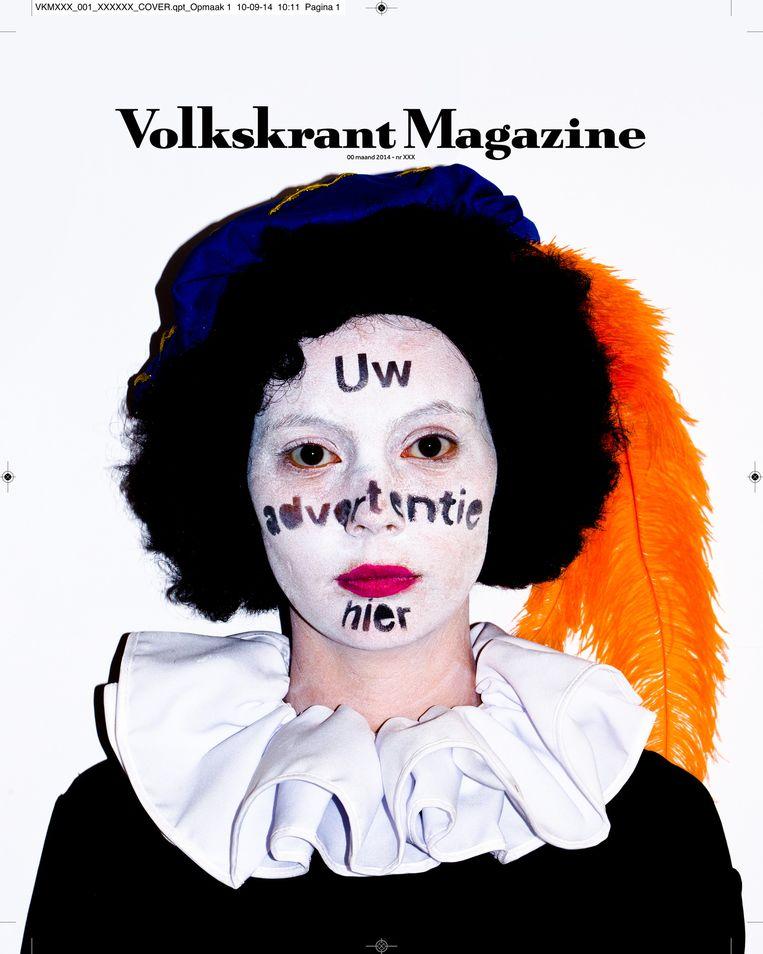 Thomas Huiskenshove, student aan de Akademie voor Kunst en Vormgeving St. Joost in Breda, heeft een van de vele Zwarte Pieten-covers ingestuurd. Dit was de meest verrassende. Beeld Thomas Huiskenshove