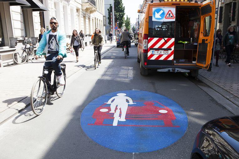 Onder meer in de Voldersstraat zijn fietsers baas.