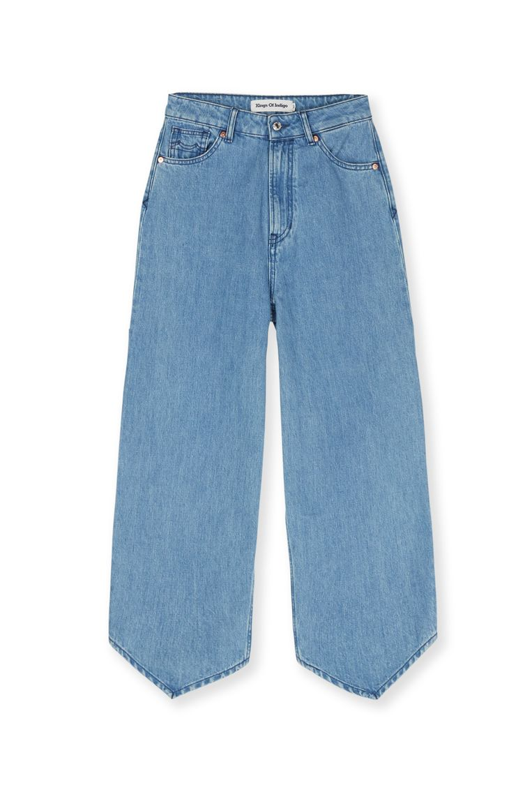 Jeans met stropdaspijpen van Kings of Indigo, € 139 Beeld