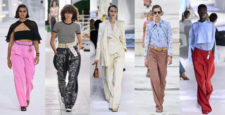 Vanaf links: Chanel, Louis Vuitton, Fendi, Chloé, Fendi Beeld Imaxtree