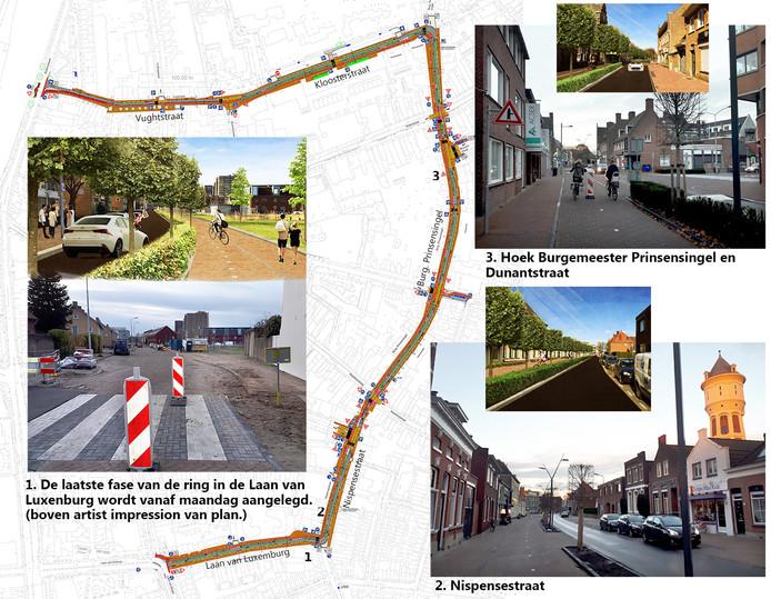 Ergernissen over Roosendaalse centrumring. Artist impressions Gemeente Roosendaal en foto's Alfred de Bruin
