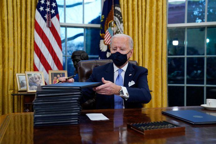 President Joe Biden vernietigde op 20 januari het tijdelijke inreisverbod voor sommige islamitische landen, dat was ingesteld door zijn voorganger Donald Trump.