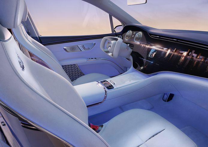Voorzien van het Hyperscreen: de Concept Mercedes-Maybach EQS