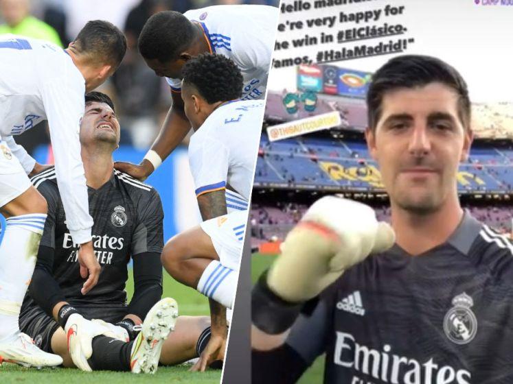 """Opluchting voor Real en Courtois na schreeuw van pijn in Clásico: """"Onderzoeken hebben blessure uitgesloten"""""""