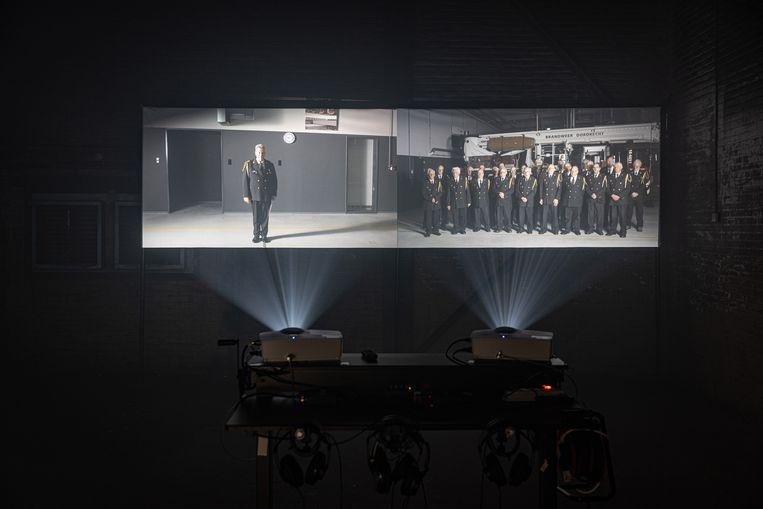 The Firemen's Choir van Simone Bennett, misschien wel het beste werk van Big Art 2021.  Beeld Jan Willem Kaldenbach