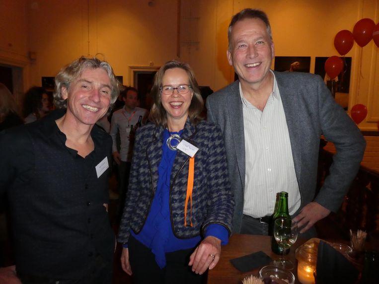 Juryleden Reint Jan Renes, Liesbeth Breeveld en André Manning. Renes: 'Het debat over 'terug naar je eigen land' zal nooit meer hetzelfde zijn.' Beeld Schuim
