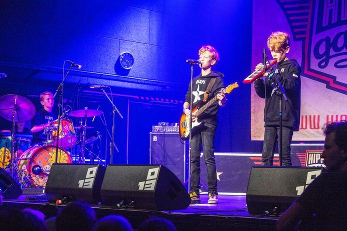 Willem, Koen en Mat (vlnr) op het podium van 013.