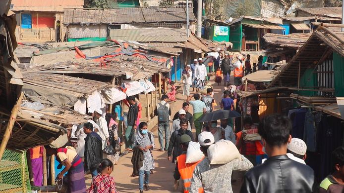 Rohingya vluchtelingenkamp in Cox's Bazar in Bangladesh