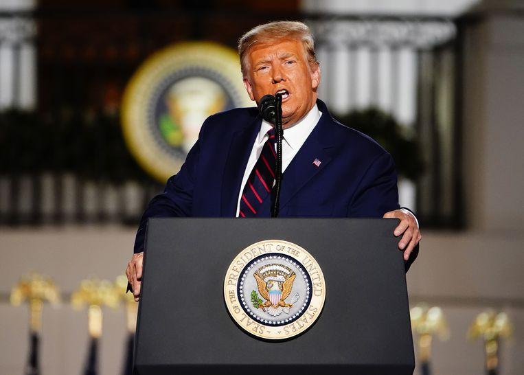 President Trump op archiefbeeld. Beeld EPA