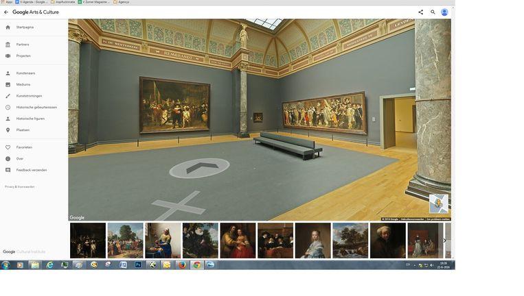 'Street View'-beeld uit het Rijksmuseum. Beeld