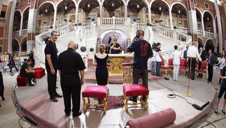 De voorbereidingen op de huwelijk zijn in volle gang. ©AFP Beeld afp