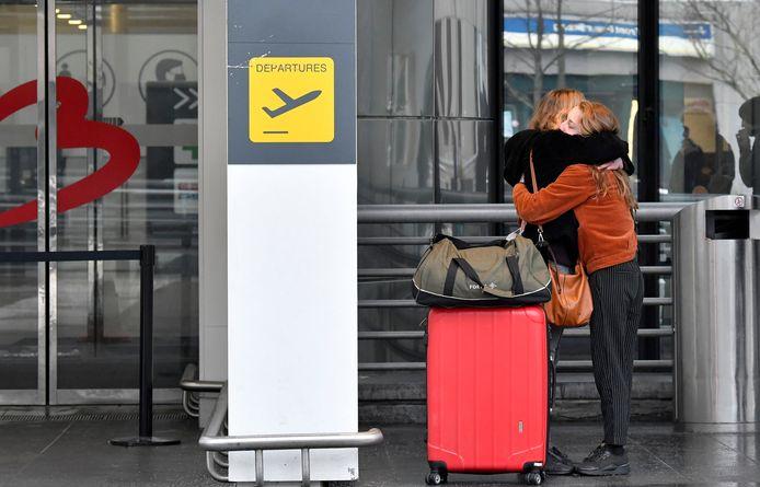 Embrassade à l'aéroport de Zaventem, mercredi