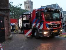 Brand aan De Plantage in Kampen, plein enige tijd ontruimd