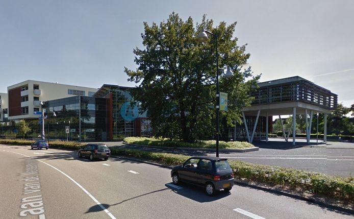 Het schoolgebouw van Aventus in Apeldoorn, aan de Laan van de Mensenrechten.