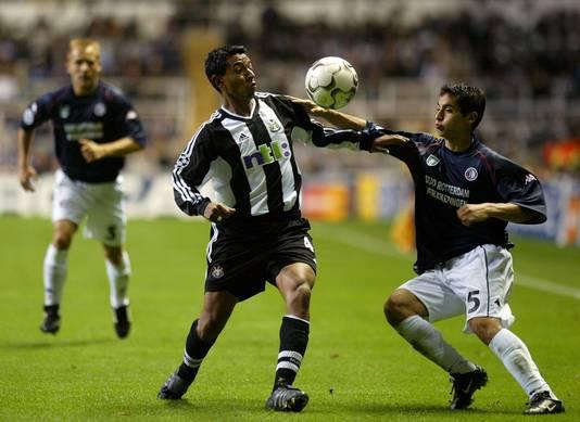 Pardo in actie tegen  Newcastle
