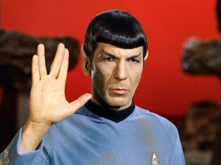 Leonard Nimoy als Mr. Spock in 'Star Trek: The Original Series' Beeld CBS via Getty Images