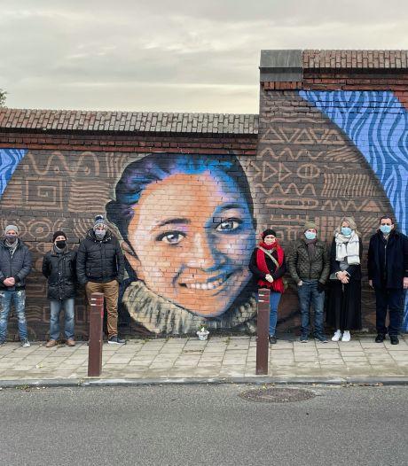 Une grande fresque en hommage à Nadège Abbate inaugurée à Seraing