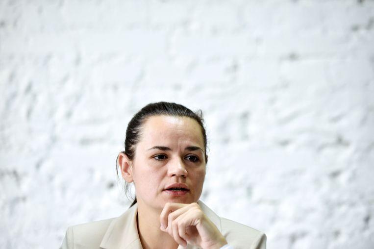 Svetlana Tikhanovskaya. Beeld AFP