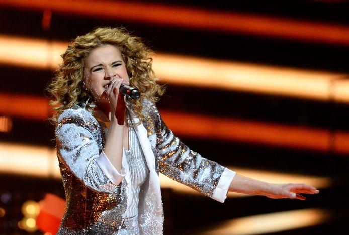Laura Tesoro op het Eurosong in 2016