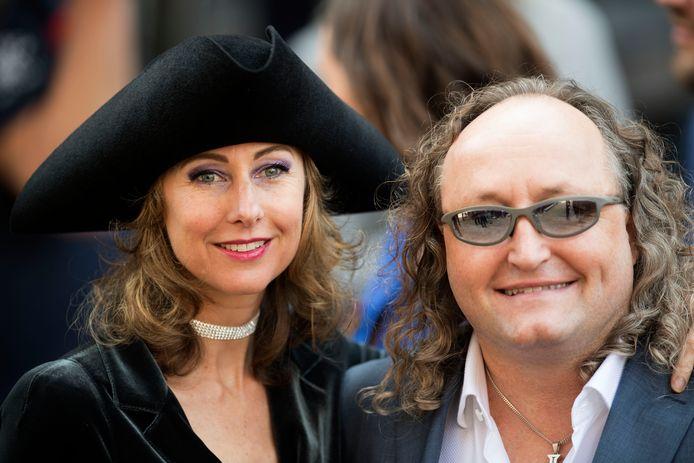 PVV-Kamerlid Dion Graus met zijn toenmalige partner op Prinsjesdag.
