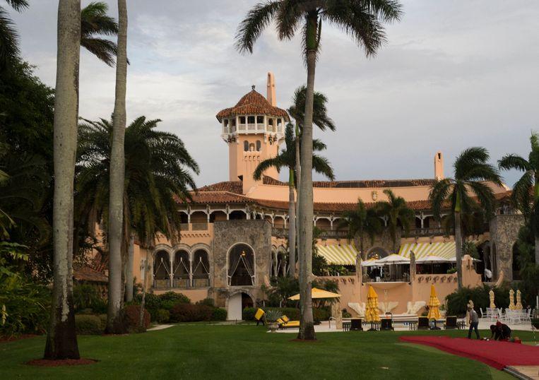 Mar-a-Lago, het resort van voormalig president Trump in Florida. Beeld AFP