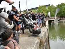 Banksy oppert alternatief voor gesloopt standbeeld slavenhandelaar: 'We halen het weer uit het water'