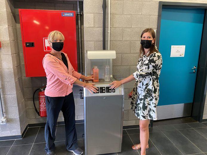 Schepen Ann Van Winkel en burgemeester Sofie Joosen