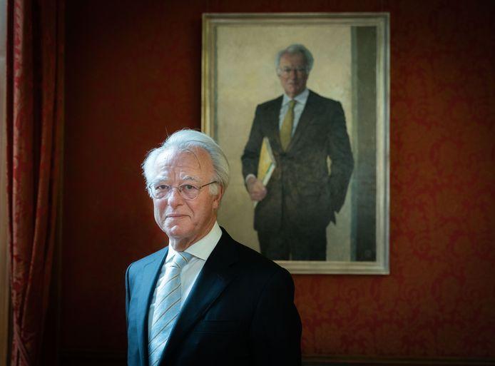 Jozias van Aartsen bij de onthulling van zijn portret.