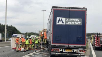 Trucker in levensgevaar na ongeval op E19: politie beboet filmende ramptoeristen