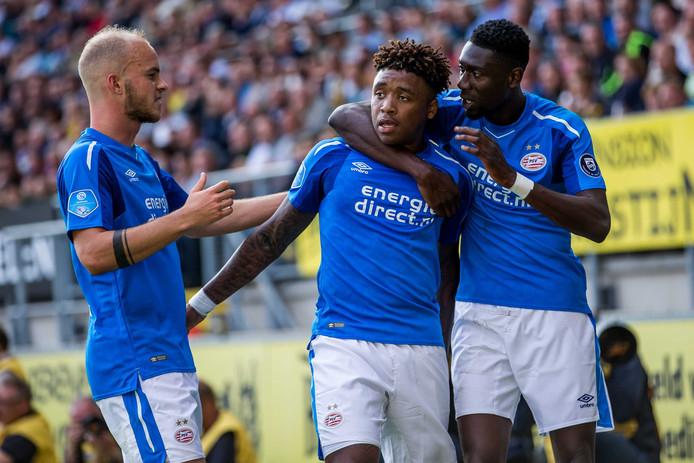 Vaker op het scorebord: Steven Bergwijn wil het graag. Bij NAC lukte het dit seizoen eenmaal voor PSV.