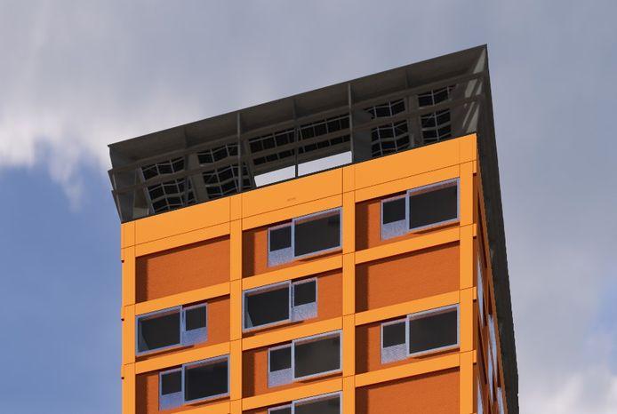 Het nieuwe woongebouw Haasje Over op Strijp-S in Eindhoven krijgt in 2022 een IBIS Powernest wind- en zonne-energie-installatie.