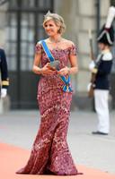 Koning Maxima bij de bruiloft van de Zweedse kroonprins Carl Philip en Sofia Hellqvist in 2015.