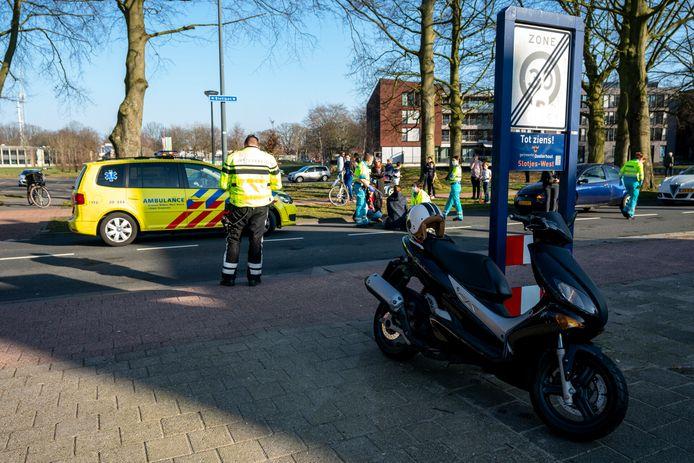 Het ongeluk op de Slotlaan in Oosterhout.