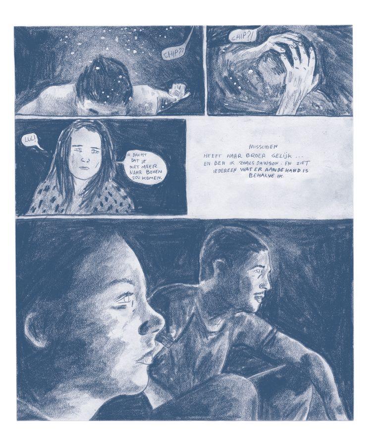In 2016 bracht Zwart met 'Wolven' zijn eerste graphic novel uit.  Beeld RV Ward Zwart