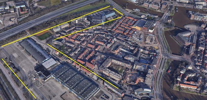 Kantoren aan de Meeuwenlaan. Ook hier moeten woningen komen, net als op de aangrenzende locatie IJsselhallen.