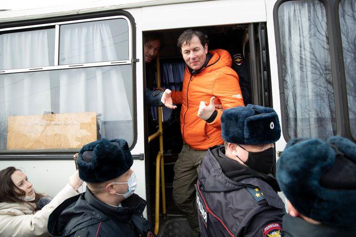 Een journalist van CNN werd ook opgepakt.