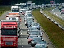 Snelheidsbeperking op A1 bij Bornerbroek door natuurbrand opgeheven