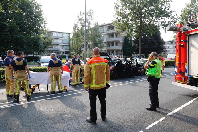 Zwaar ongeluk Montgomerylaan in Eindhoven.
