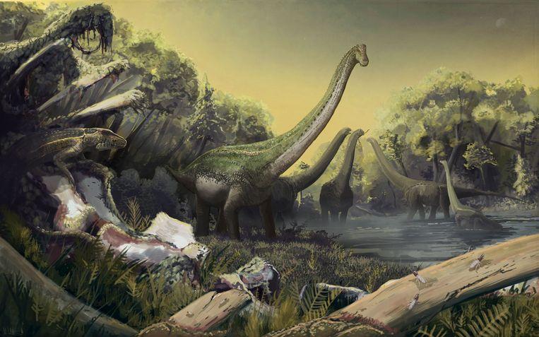 Een impressie van de titanosaurus. Beeld Eric Roberts