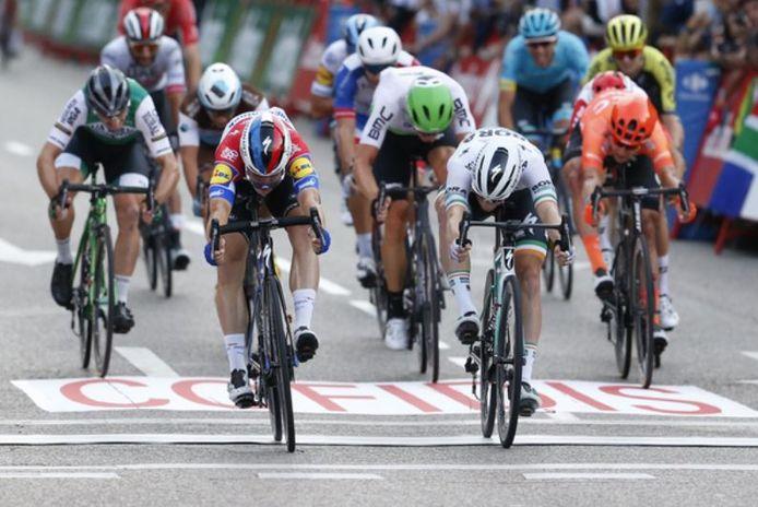Beeld uit de Ronde van Spanje.
