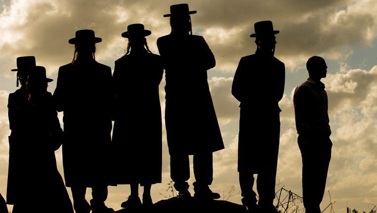 Ultra-orthodoxe joden in de stad Atlit. Beeld afp