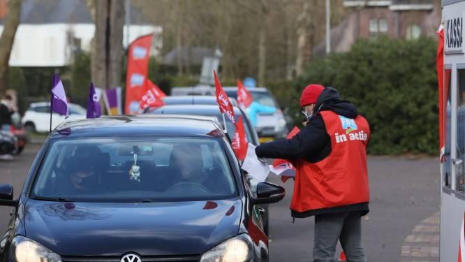 Staakstoet rijdt door Eindhoven: 'Gaf weer dat echte vakbondsgevoel'